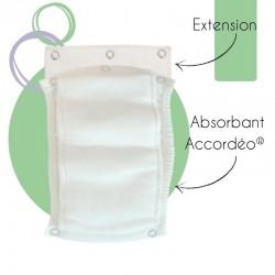l'extension s'utilise avec un absorbant accordeo